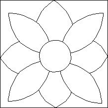 Quilt-Pro - Block of the Day- Daisy-Stencil...The Block of the Day is available to all quilters, regardless of whether you own our software programs.