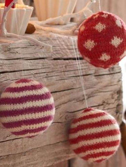 Weihnachtskugeln stricken - schoenstricken.de