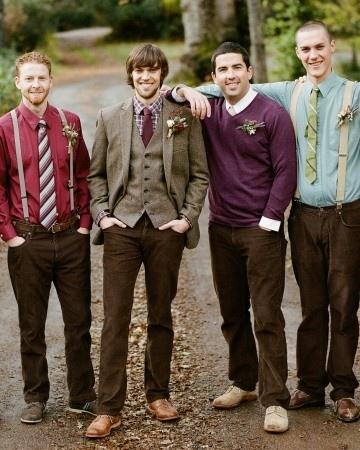 grooms in suspenders - Google Search