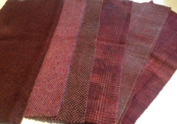risultato di tintura di diverse fantasie Tessuto in lana per tappeto aggancio e di PrimitivesByCarolRae
