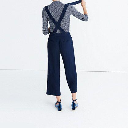 Wide-Leg Suspender Pants