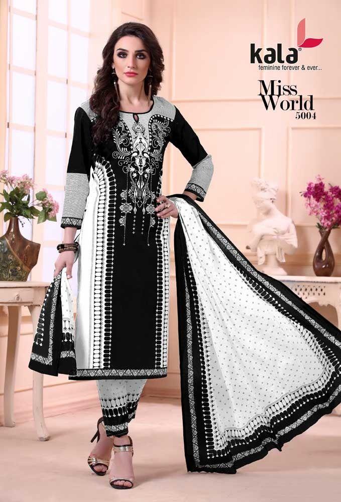 90548f3194 #Kala #manufacture 2019 new Desigenr Miss World Cotton Churidar dress  material buy wholesale price At catalog #fashion #mart in #Surat.