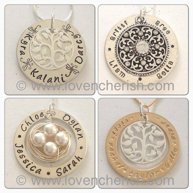 a few recent custom orders of personalised hand stamped jewellery by www.lovencherish.com