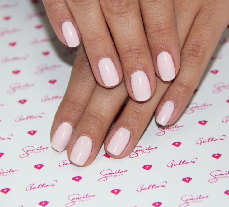 #lightpink #semilac #nails #bicuit #romantic #lovely #wedding