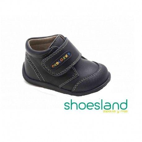 OUTLET Botas para comenzar a caminar de Pablosky en piel marino con velcro sistema Superflex #shopping #shoes #calzado #botas #fashion #pablosky #madeinspain #outlet