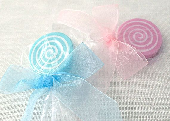 Set of 10 lollipop soaps on a stick great gift by AliceInWonderSpa