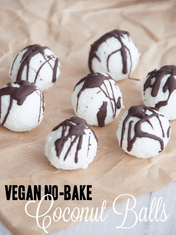 Vegan No-Bake Coconut Balls | ElephantasticVegan.com: