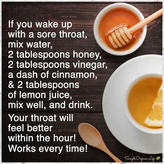 Sore throat remedy                                                                                                                                                                                 More