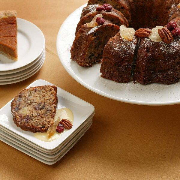 Spiced Apple Cake with Eggnog Sauce | Recipe | Spiced Apples, Apple ...