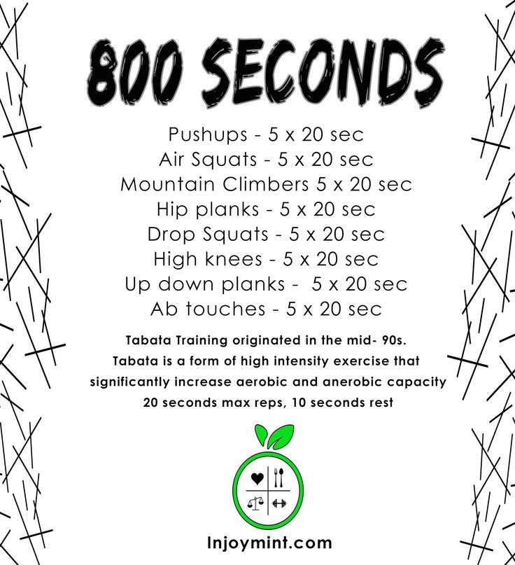 workout like a beast   tabata workout  800 seconds
