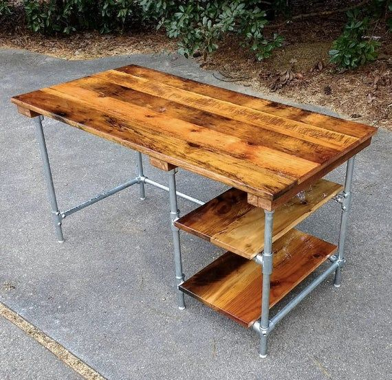 Custom Desk Made From Reclaimed Wood Bar Top Any Finish With