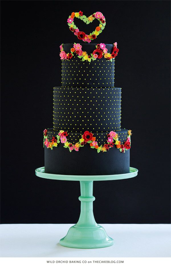 10 Beautiful Black Cakes | including Wild Orchid Baking Company | on TheCakeBlog.com