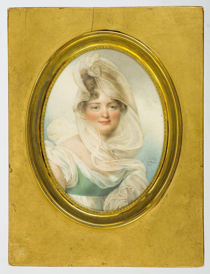 Miniature of Ludwika Lanckorońska née Rzewuska by Jean-Baptiste Isabey, 1814, Ossolineum