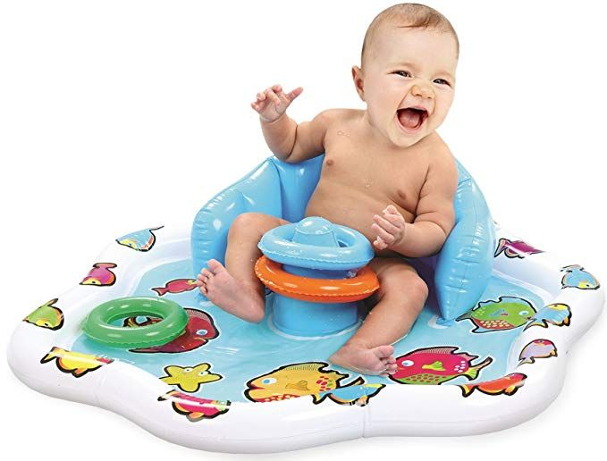 Kleeger Baby Pool Splash Mat Infant Water Play Mat Toy With Stackable Rings For Boys Girls Great For Bea Baby Boy Accessories Infant Water Play Baby Pool
