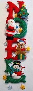 BUCILLA-FELT-NOEL-SANTA-SNOWMAN-CHRISTMAS-WALL-HANGING-26-READY-TO-HANG