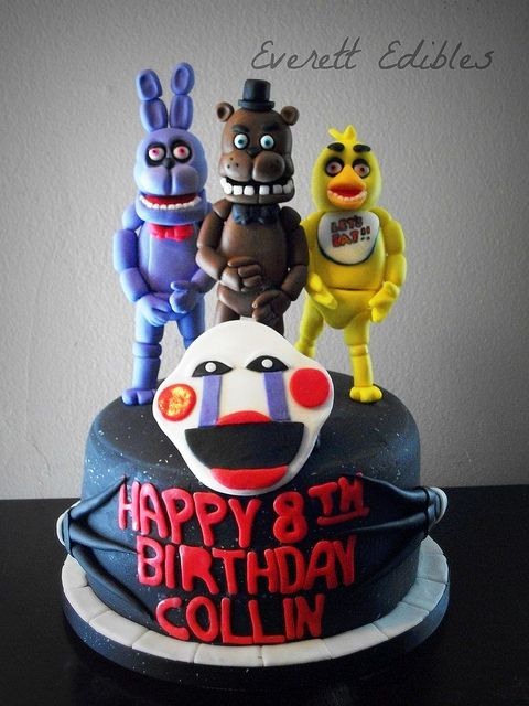 Nights at freddy s cake 4 2015 flickr photo sharing five nights