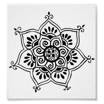 sold...thank you!   lotus flower tribal tattoo posters