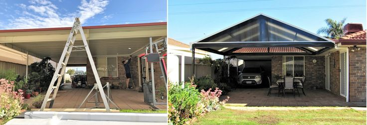 Pergolas / Verandahs Before and after photos