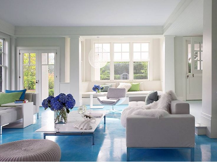 Cold Living Room Beach Home Decorating Ideas With Calming Blue Color Scheme