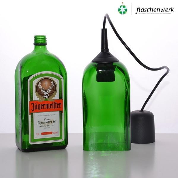 Pendant Light from a 1L JÄGERMEISTER Bottle
