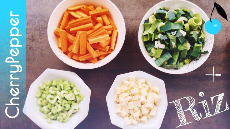 Soupe de riz & légumes