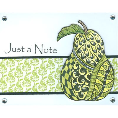 Just a Note Pear - Just for Fun Stamps