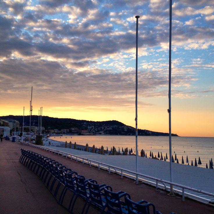 Sunrise (walking east on the Promenade)