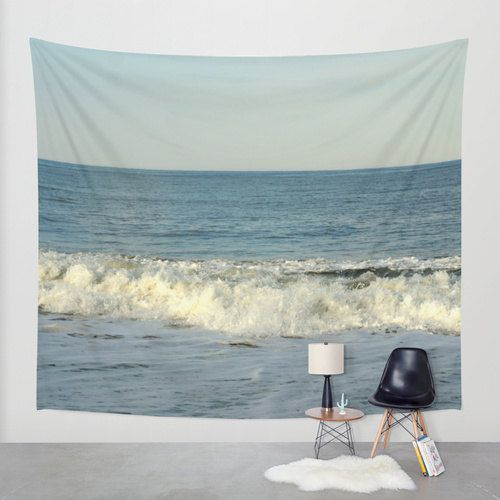 Wave tapestry, ocean tapestry, photo tapestry wall hanging, blue tapestry, boho tapestry, modern tapesty extra large wall art beach tapestry