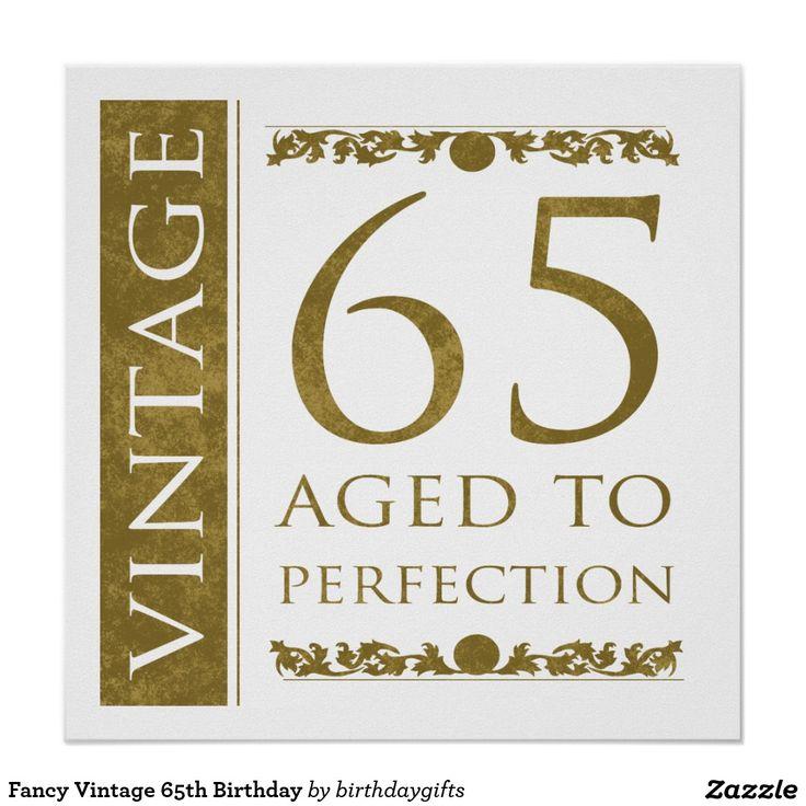 Fancy Vintage 65ste Verjaardag Poster