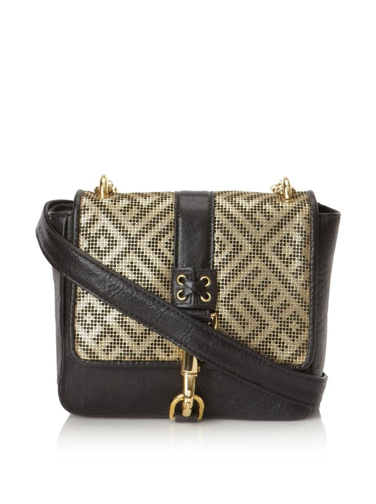 Viceroy Annie Hall Cross-Body, Gold/Black