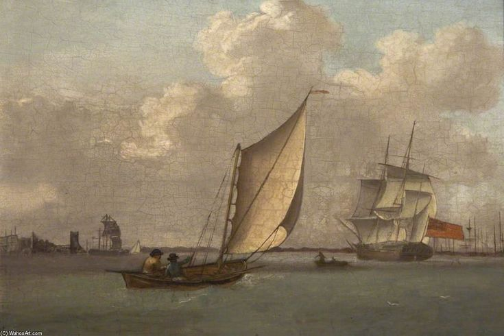"""Saltash Passage, Plymouth"",  by Nicholas Condy (1793-1857, United Kingdom)"