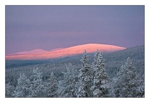 Punainen tunturi maisema    photo by Jorma Hevonkoski