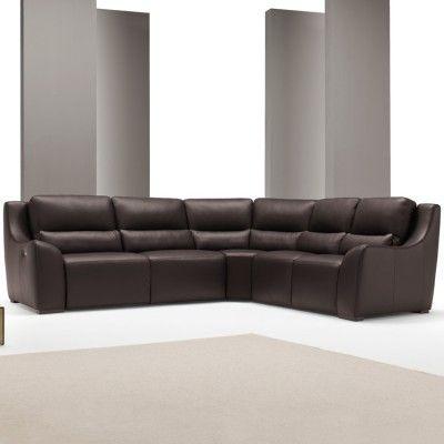 from £3755 Italian Recliner Leather Corner Sofa - Kentia #4livinguk