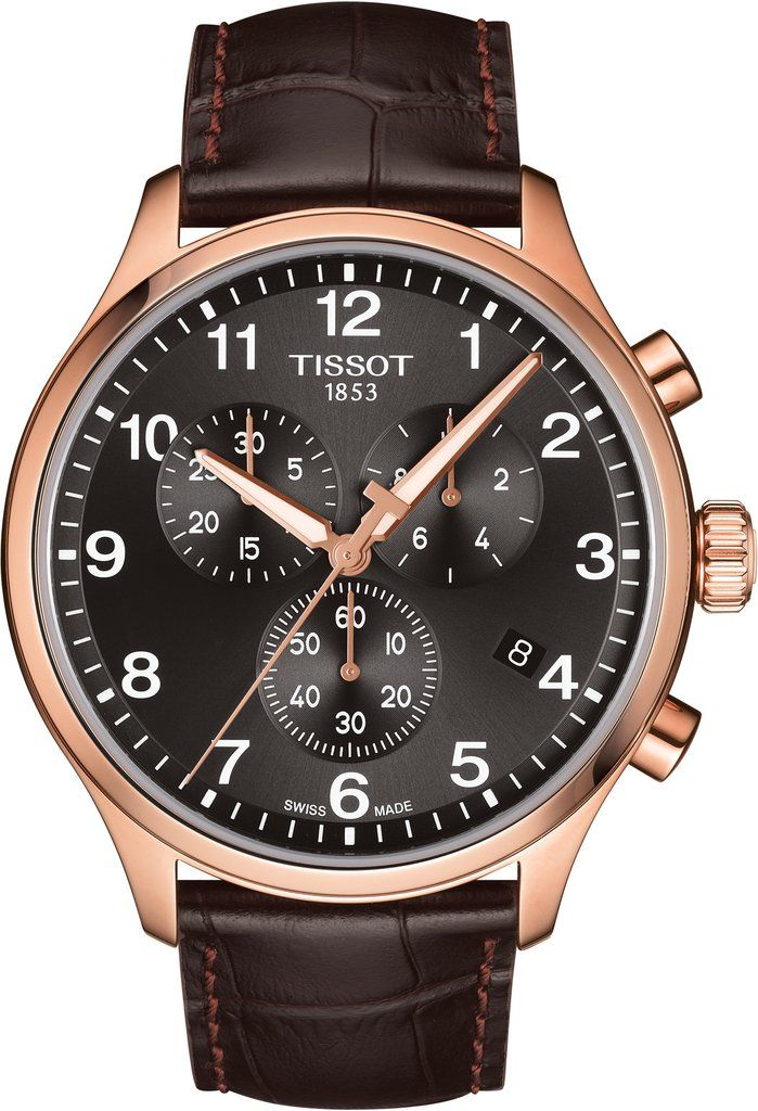 Tissot Watch T Sport Chrono Xl Mens T1166173605701 Watch Luxury Watches For Men Classic Watches Men Brown Leather Strap Watch