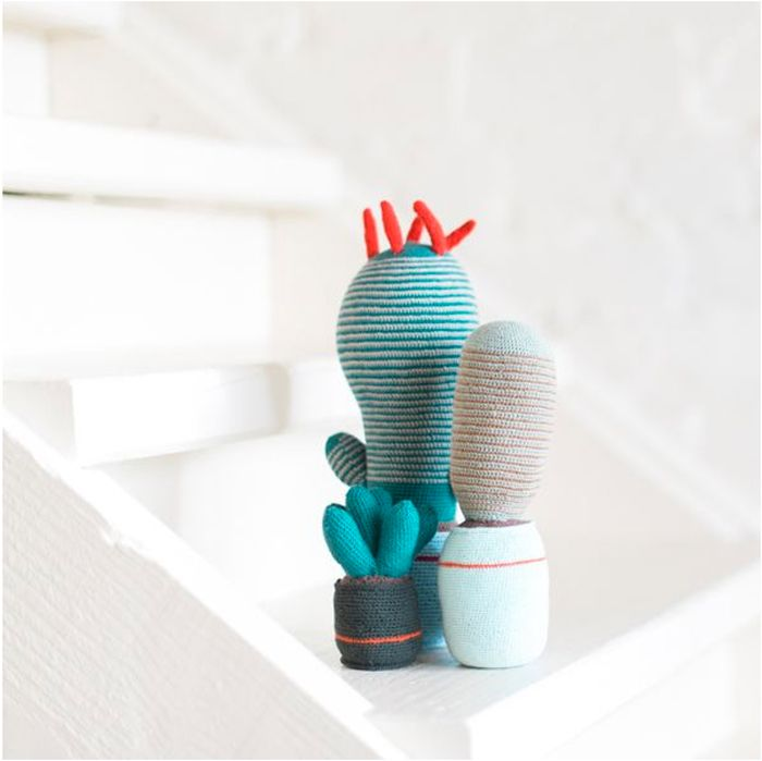Knit cacti Styled by Marsha Golemac safari inspiration