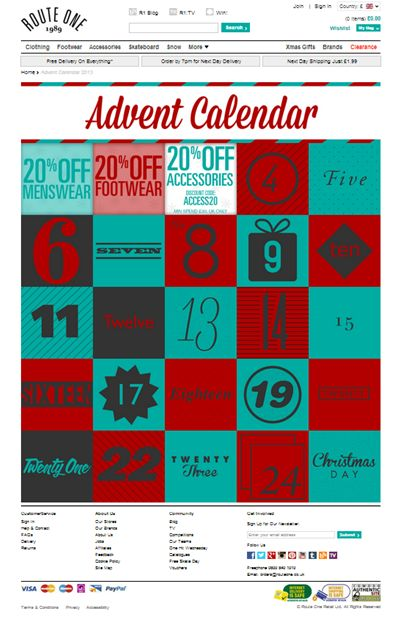 digital advent calendar design - Google Search