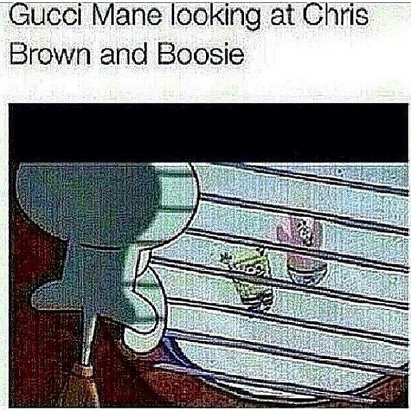 gucci x spongebob. gucci mane chris brown and lil boosie spongebob x
