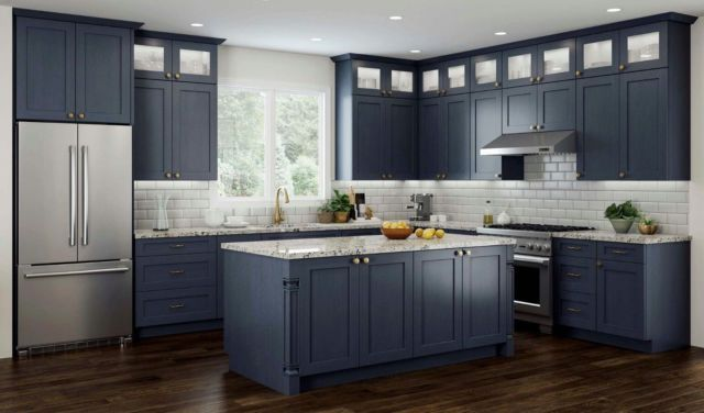 11 X 14 Elegant Blue Shaker Kitchen Cabinet Door Sample Vanity Ebay Shaker Kitchen Cabinets Refacing Kitchen Cabinets New Kitchen Cabinets