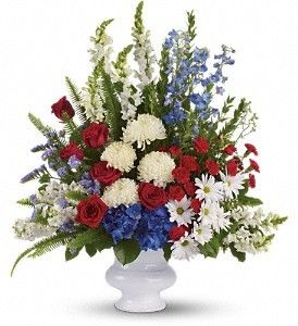 #FDH_With_Distinction  A dazzling display of patriotic red, white and blue flowers sends a silent yet poignant statement about hope, freedom and the strength to endure. This proud bouquet is a testament to life that is sure to be appreciated.  For Other Details Visit - http://flowersdeliveryhouston.com/houston-florist/price/more-than-150/fdh-with-distinction