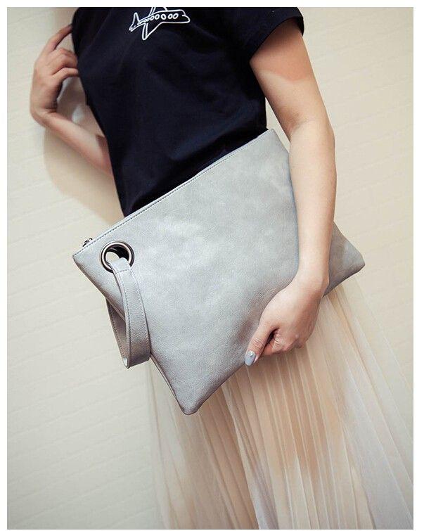 Yogodlns Fashion solid women's clutch bag leather women envelope bag clutch evening bag female Clutches Handbag