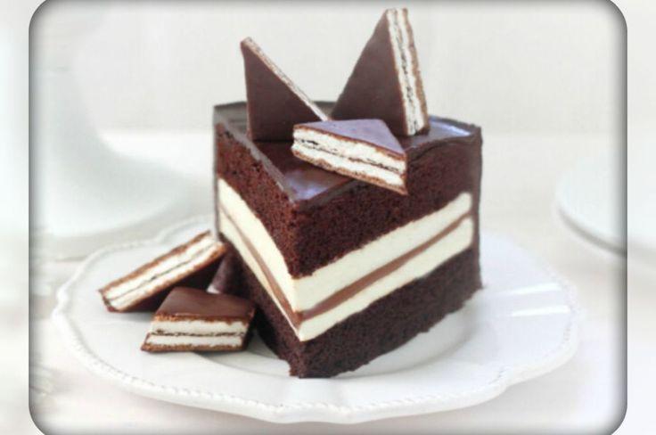 Kinder Pingui cake. Recipes with photos.