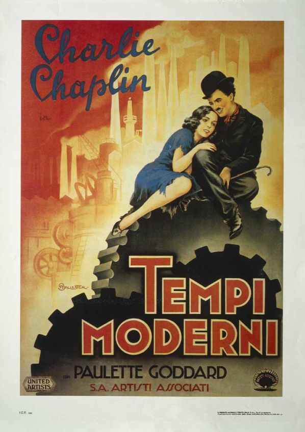 """Tempi moderni"" (Modern time) by Charlie #Chaplin - billboard by Anselmo Ballester"