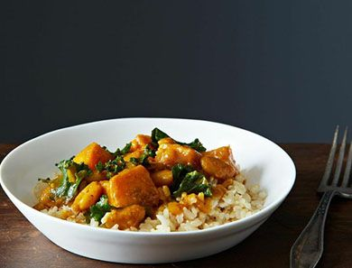 This is a rich, hearty vegan stew that's easy and quick to make for a weeknight dinner.