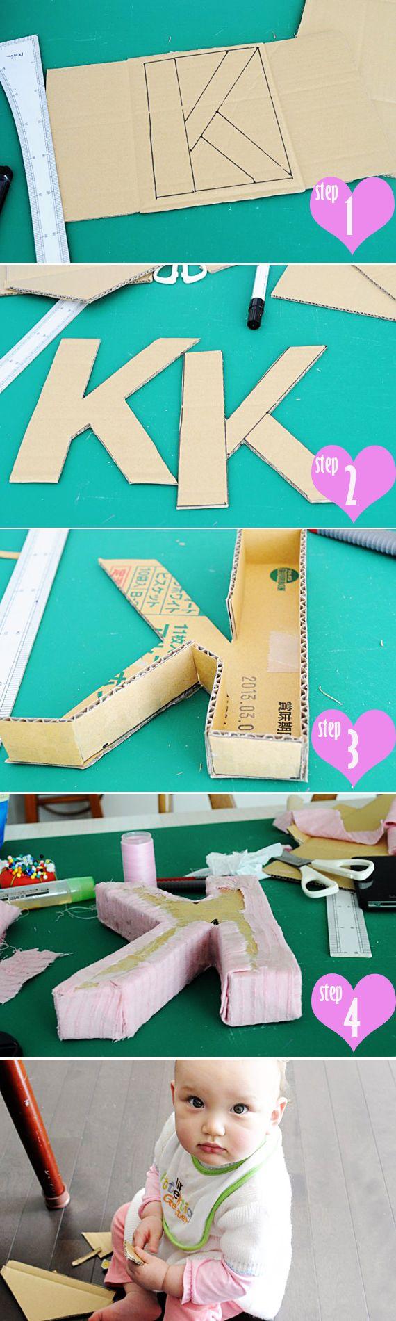 fabric letter diy