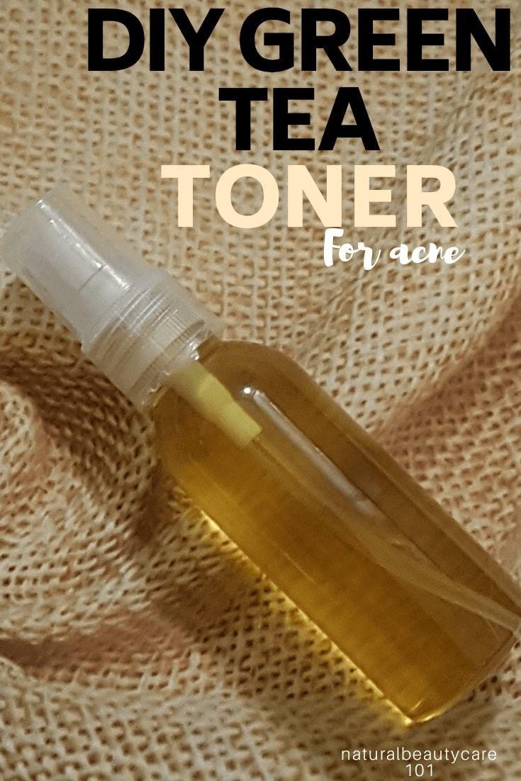 DIY Green Tea Toner For Acne