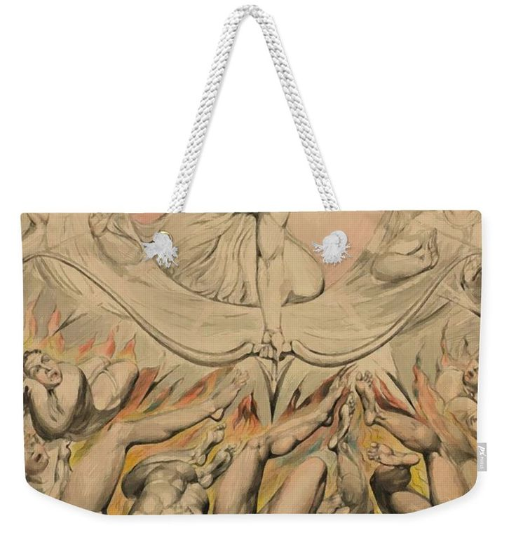 The Weekender Tote Bag featuring the painting The Casting Of The Rebel Angels Into Hell 1808 by Blake William