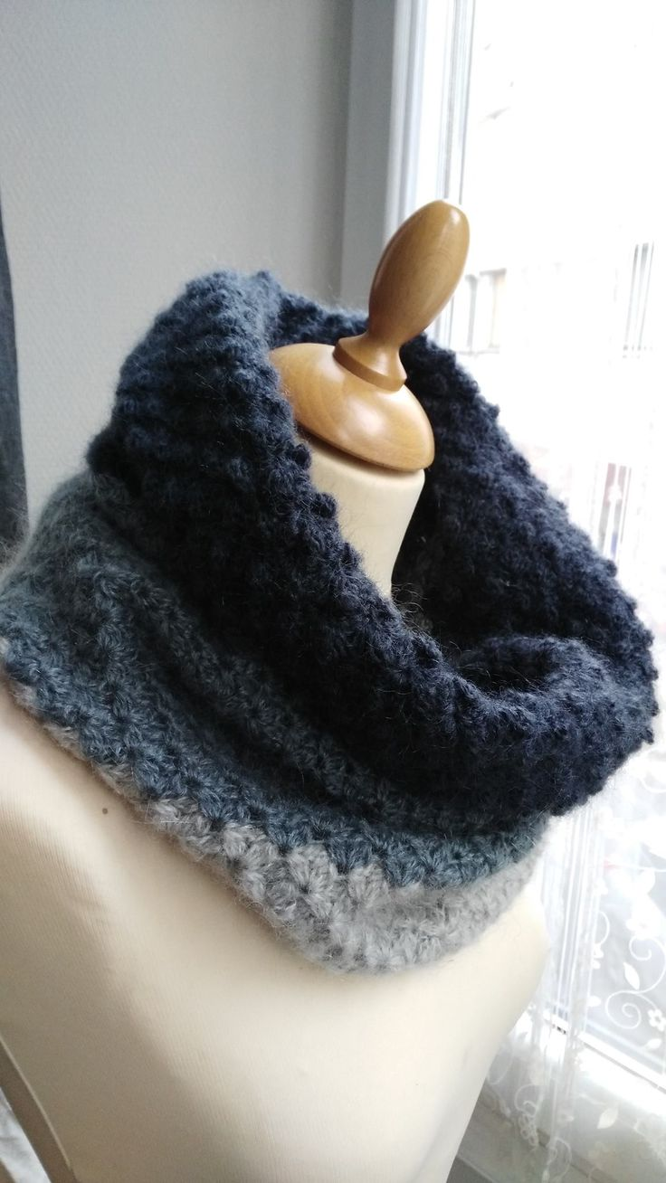 Snood simple au crochet
