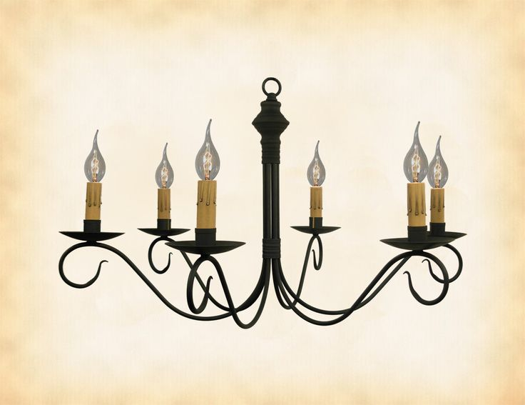 COLONIAL METAL PRIMITIVE CHANDELIER    Adams  Handcrafted Six  6  Arm  Candelabra Ceiling571 best Handcrafted Country Lighting images on Pinterest  . Primitive Colonial Light Fixtures. Home Design Ideas