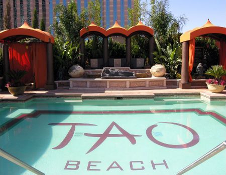 Tao Beach Las Vegas pool party in the Venetian Hotel and Casino