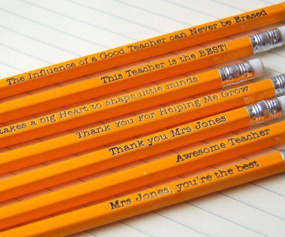 Lápices personalizados para maestro - Pesonalised de su hijo - añadir cualquier texto que desea que a través de cinco lápices HB